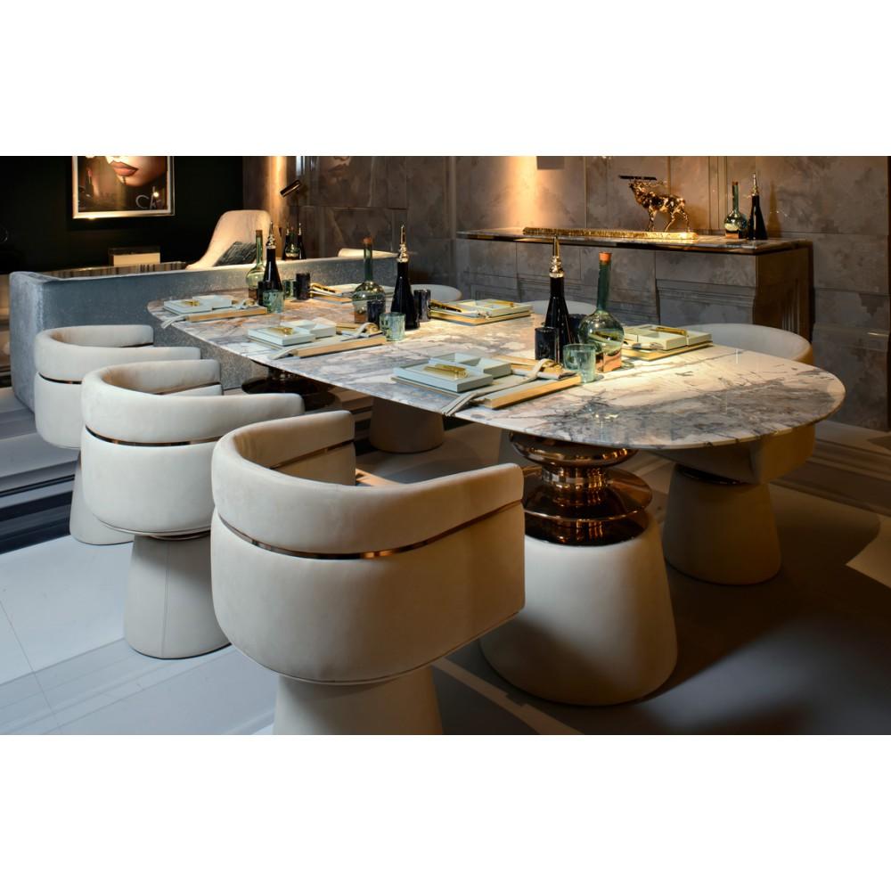Текстильное оформление ресторана Alessandro La Spada
